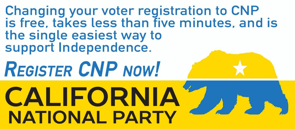 Change your voter registration to California National Party
