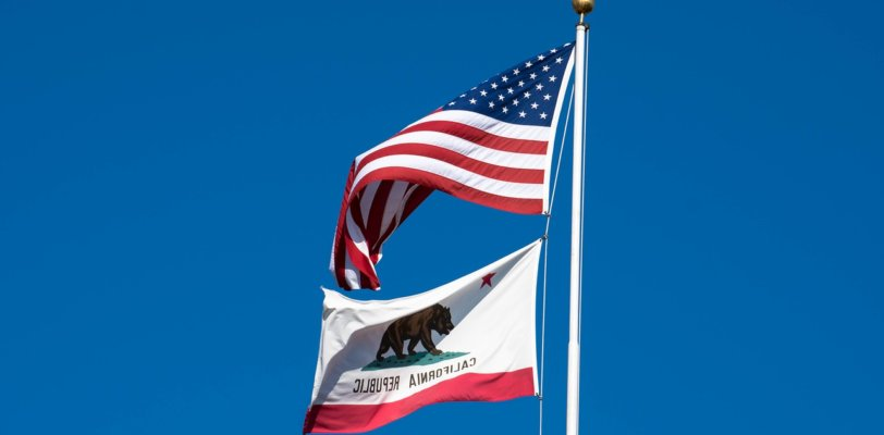 CA and US flags