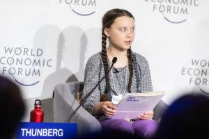 Greta Thunberg speaking in Davos in November 2018. (Credit: World Economic Forum / Mattias Nutt)