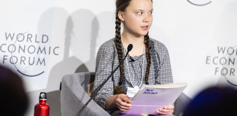 Greta Thunberg speaking in Davos in November 2018. (Credit: World Economic Forum / Mattias Nutt)